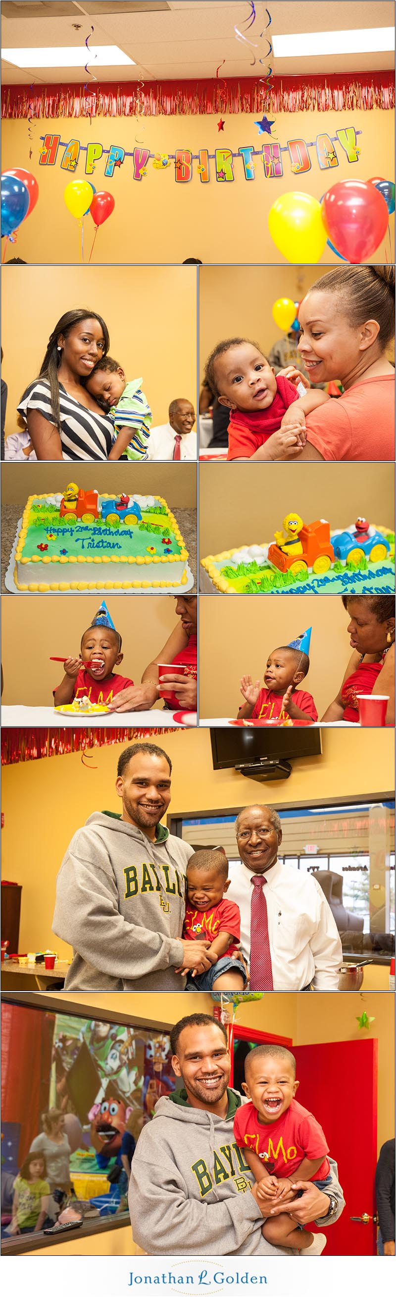 father and son pearland birthday party photography