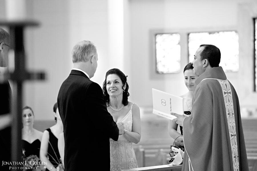 Deborah-and-Keith-Wedding-at-alter-b&w