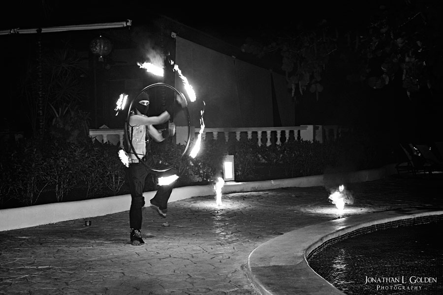 destination-wedding-photography-fire-dancers-b&w