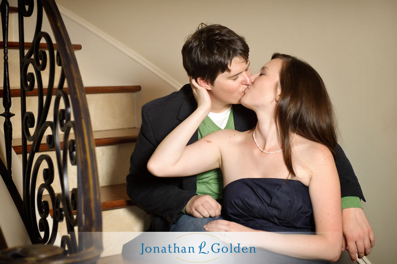 houston-engagement-pictures-stairwell-erin-dave
