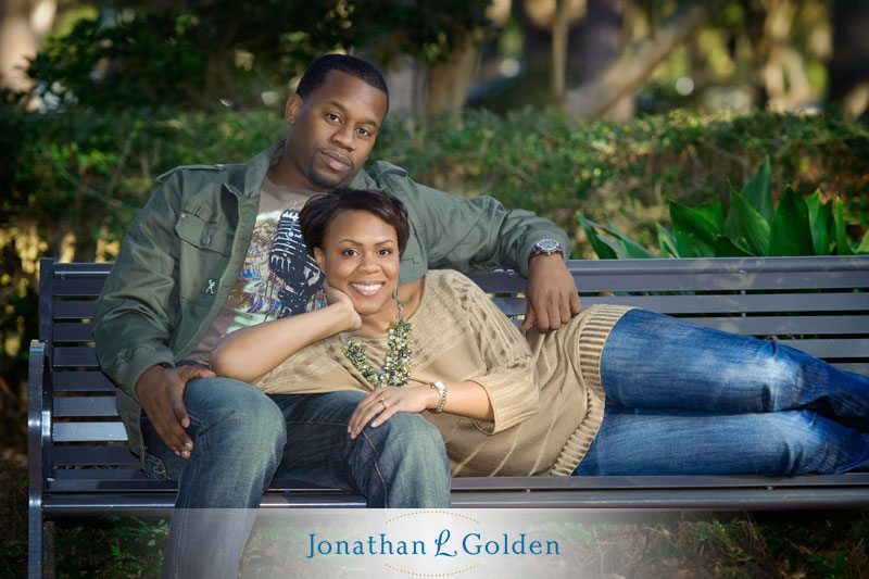houston-engagement-photography-rice-university-floral-garden-bench