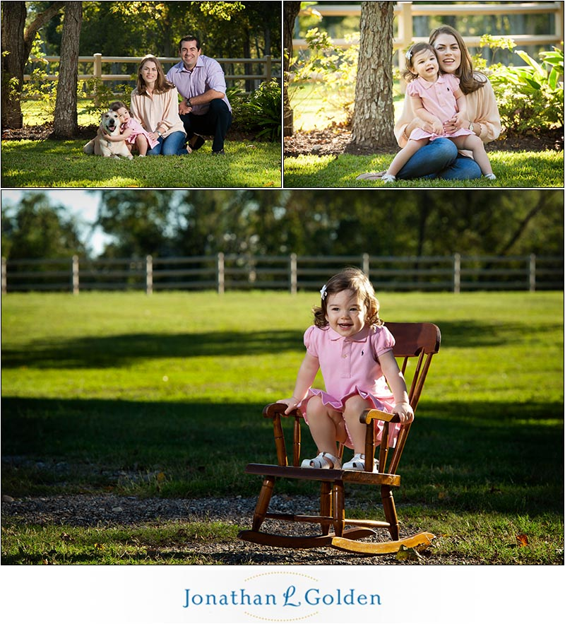 baby portraits in rocking chair houston